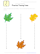 Kids Tracing Lines Worksheet Template