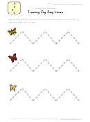 Tracing Zig Zag Lines Worksheet Template