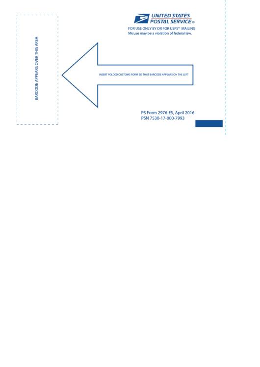 Ps Form 2976-es - Barcode