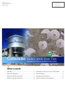 Form Dr 0099 - Colorado Sales And Use Tax Guide