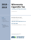 Form Ct100 - License Application For Cigarette Distributors And Subjobbers - 2018-2019