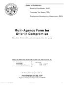 Form De 999ca - Multi-agency Form For Offer In Compromise