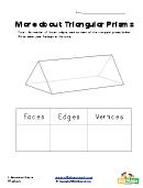 Triangular Prisms Shapes Worksheet