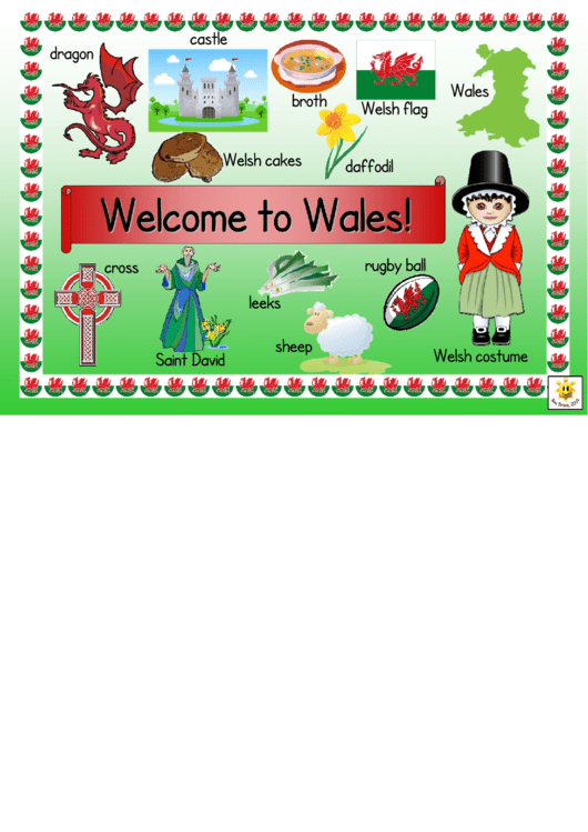 Welcome To Wales Classroom Poster Template Printable pdf
