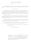 Communitization Agreement Template