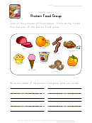 Protein Food Group Worksheet Template