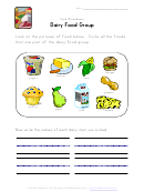 Dairy Food Group Worksheet Template