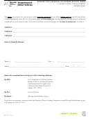 Form Mv-299.3 - Request For Approval Of Driving School Name
