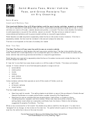Form Gt-800037 - Solid Waste Fees, Motor Vehicle Fees, And Gross Receipts Tax On Dry Cleaning
