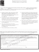 Form Dr-97 - Suggested Format For An Exemption Certificate Based On Property's Use