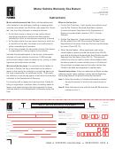 Form Dr-35 - Motor Vehicle Warranty Fee Return