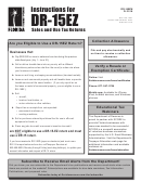 Instructions For Form Dr-15ez - Sales And Use Tax Returns