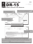 Instructions For Form Dr-15 - Sales And Use Tax Returns