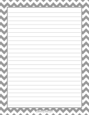 Boarded Lined Grey And White Writing Paper