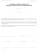 Form Dhcs 4027 - California Children's Services (ccs) Consent For Medical Therapy Program Services