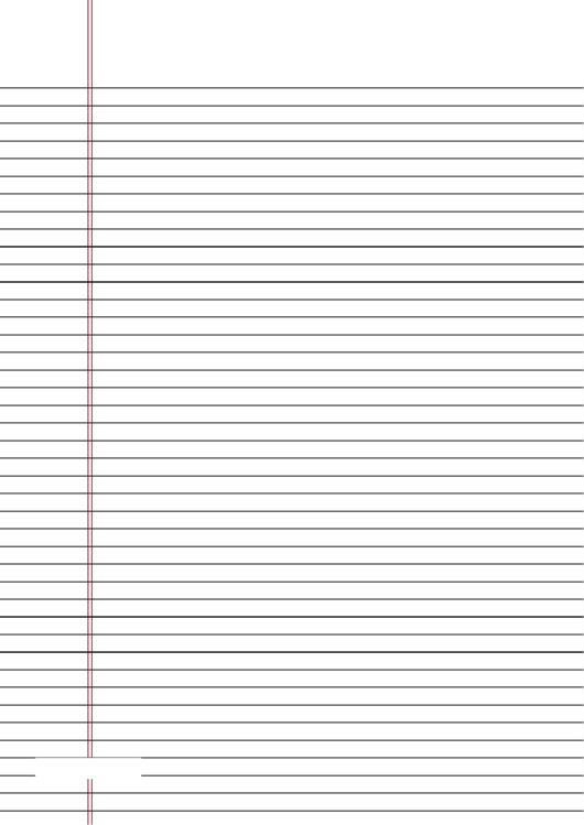 Lined Writing Paper With Border Printable pdf