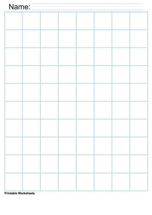 1 Inch Light Blue Graph Paper Printable pdf