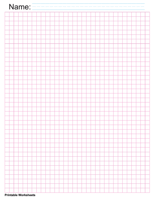 1/4 Inch Pink Blank Graph Paper Printable pdf