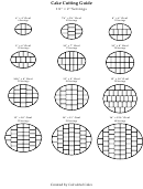 Oval Cutting Cake Serving Chart