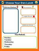 Choose Your Own Lunch Template