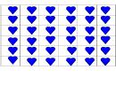 Blue Heart Template