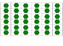 Green Hexagon Template