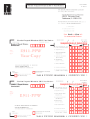 Form E911-ppw - Florida Prepaid Wireless E911 Fee Return