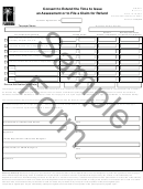 Form Dr-872 Draft - Consent To Extend The Time To Issue An Assessment Or To File A Claim For Refund