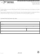 Form Elt-3 - Application For Title/lien Escrow Account