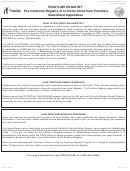 Form Tlr 1 - Trustline Registry In-home/license Exempt Child Care Provider Program California Department Of Social Services Background Check Application