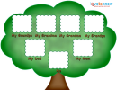 Kids' Photo Genealogy Tree Template