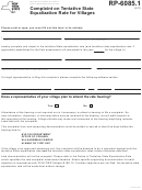Form Rp-6085.1 - Complaint On Tentative State Equalization Rate For Villages