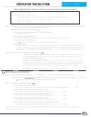 Verification Tracking Form - Arizona Department Of Education