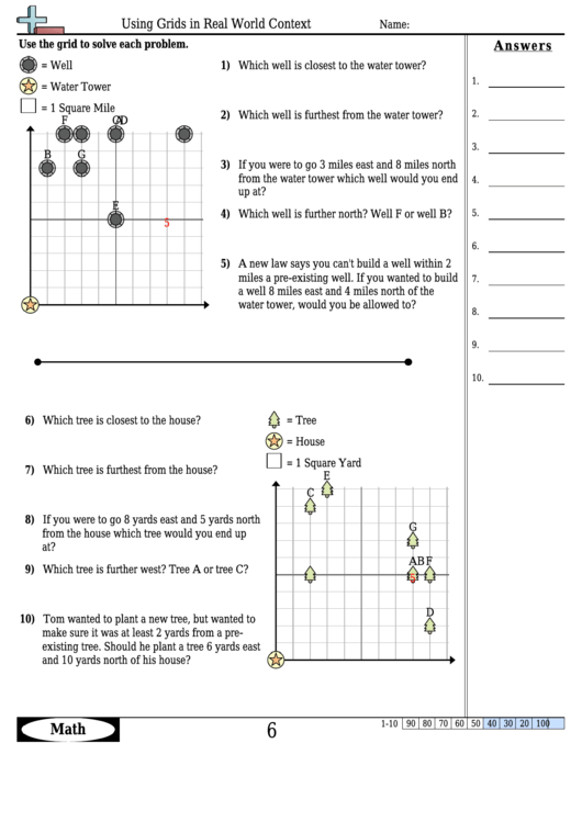Using Grids In Real World Context Worksheet Template With ...