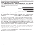 Form Soc 2289 - In-home Supportive Services Program State Administrative Review Request Response Letter To Recipient Rescinding Provider's Third Or Fourth Violation For Exceeding Workweek And/or Travel Time Limits