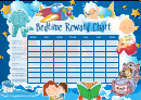 Weekly Bedtime Reward Chart