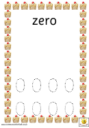 Cupcake Number Formation 0-10 Template