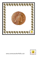 British Coins Play Money Template