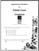 Form Lic 281a - License Application And Instructions For Child Care Centers
