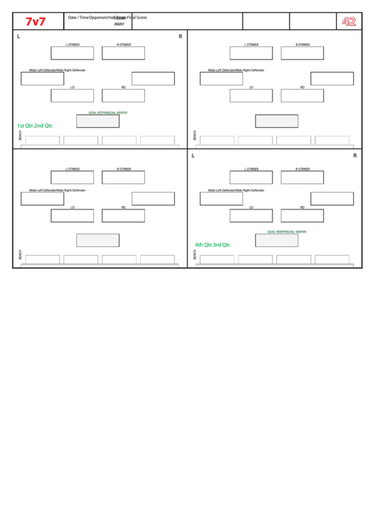 top 56 soccer lineup templates free to download in pdf format