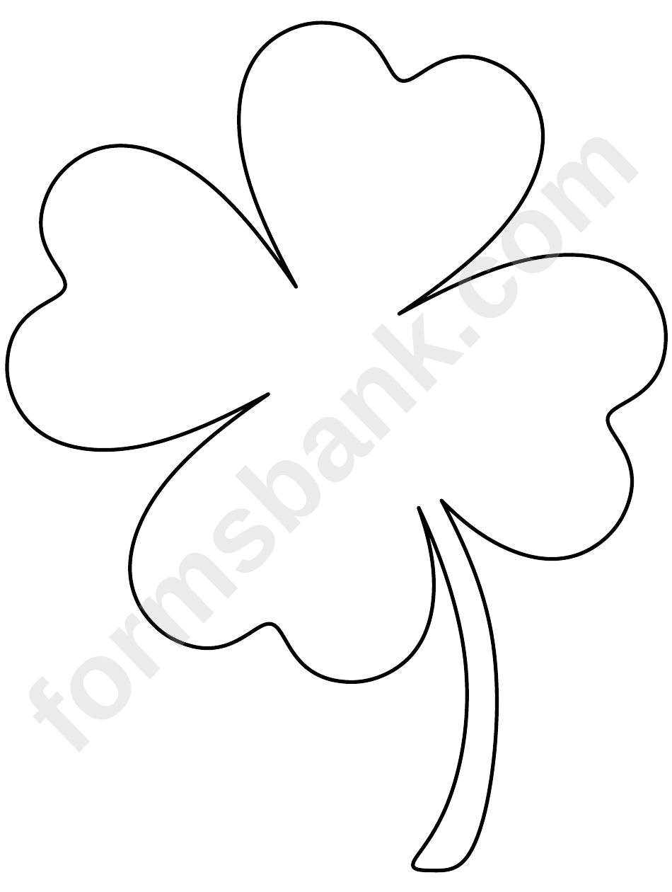 Large Clover Template Topsimages