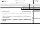 Form 6478 - Biofuel Producer Credit - 2017