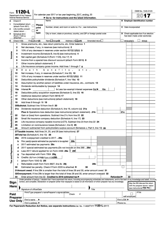 Top 5 Form 1120 L Templates Free To Download In Pdf Format