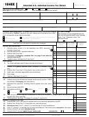 Form 1040x - Amended U.s. Individual Income Tax Return