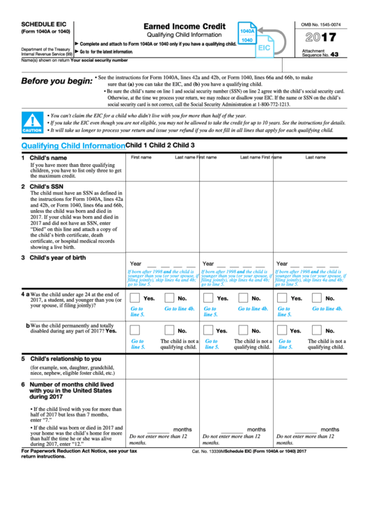 Top 14 Form 1040 Schedule Eic Templates Free To Download In Pdf Format