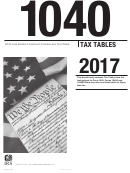 Form 1040 - Tax Tables - 2017
