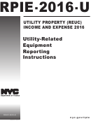 Form Rpie-2016-u - Utility-related Equipment Reporting Instructions - 2016