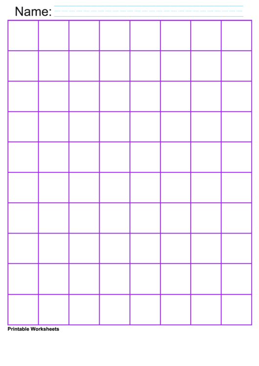 Purple 1 Inch Graph Paper Printable pdf