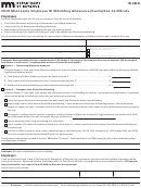 Form W-4mn - Minnesota Employee Withholding Allowance/exemption Certificate - 2018