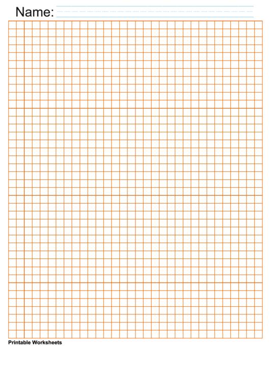 1/4 Inch Orange Blank Graph Paper Printable pdf